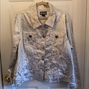 Berek 2X silver and gray button down jacket